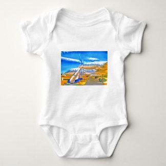 Pop Art Russian Airliner Baby Bodysuit
