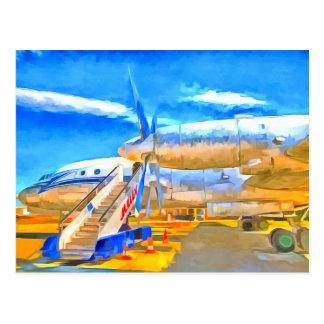 Pop Art Russian Airliner Postcard
