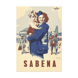 Pop art Sabena Ex Belgian Airlines Canvas Prints