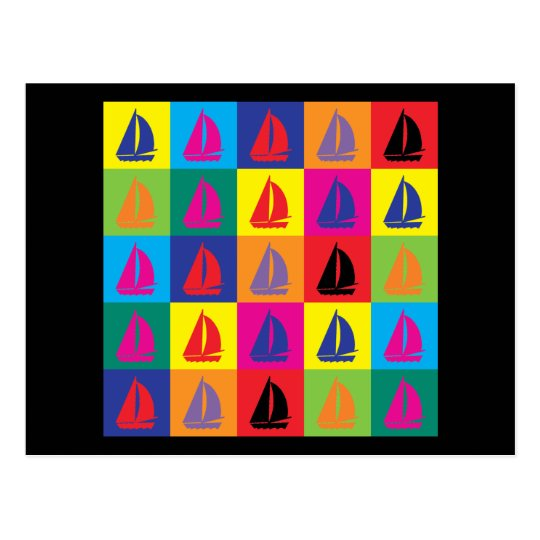Pop Art Sailing Postcard