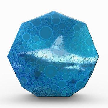 Beach Themed Pop Art Sand Tiger Shark Acrylic Award