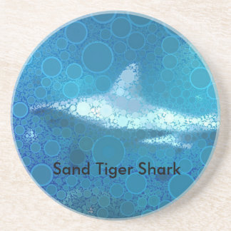 Pop Art Sand Tiger Shark Drink Coaster