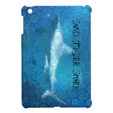 Beach Themed Pop Art Sand Tiger Shark iPad Mini Covers
