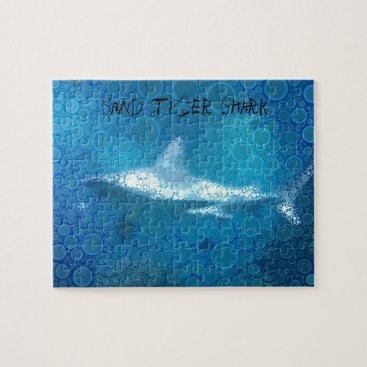 Beach Themed Pop Art Sand Tiger Shark Jigsaw Puzzle