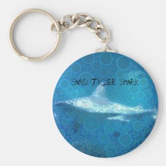 Pop Art Sand Tiger Shark Keychain