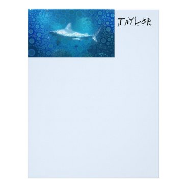 Beach Themed Pop Art Sand Tiger Shark Letterhead