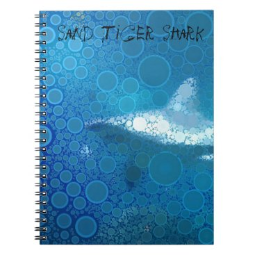 Beach Themed Pop Art Sand Tiger Shark Notebook