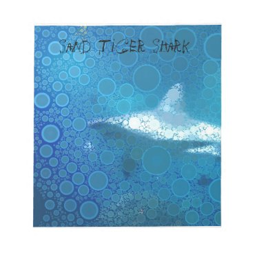 Beach Themed Pop Art Sand Tiger Shark Notepad