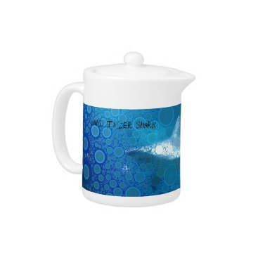 Beach Themed Pop Art Sand Tiger Shark Teapot