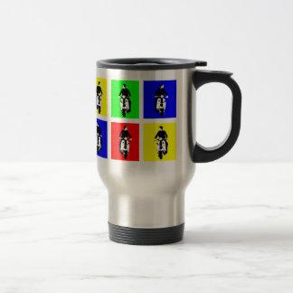 Pop Art Scooter Boy Travel Mug