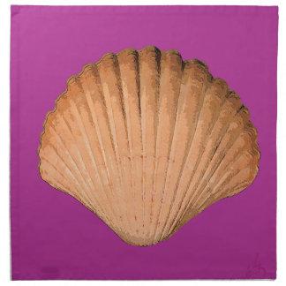 pop art sea shell napkin