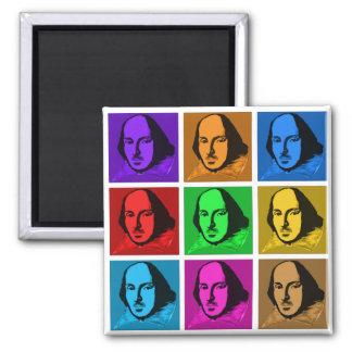 Pop Art Shakespeare 2 Inch Square Magnet