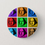 Pop Art Shakespeare Pinback Button