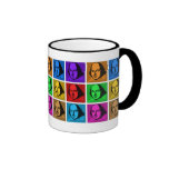 Pop Art Shakespeare Ringer Mug