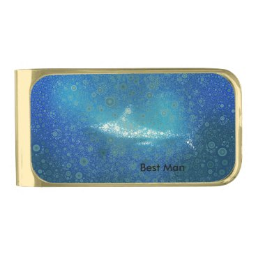 Beach Themed Pop Art Shark Bachelor Party Gifts Gold Finish Money Clip