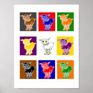 Pop Art Sheep Poster