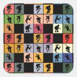 Pop Art Skateboarders Collage Sticker
