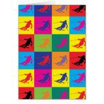 Pop Art Skiing Card