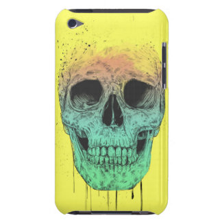 Pop art skull barely there iPod case