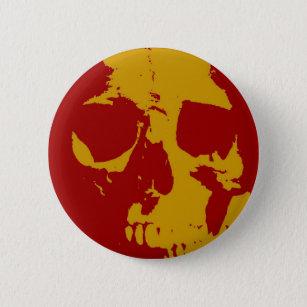 Pop Art Skull Button