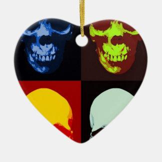 Pop Art Skull Ceramic Ornament