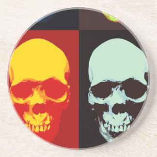 Pop Art Skull Coaster