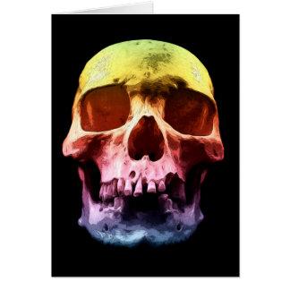 Pop Art Skull Face Card