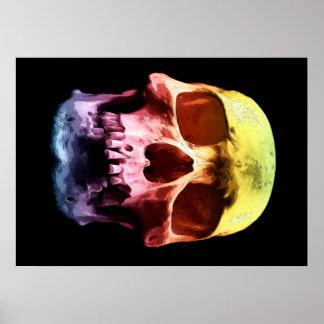 Pop Art Skull Face Poster