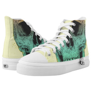 Pop art skull High-Top sneakers