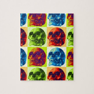 Pop Art Skull Jigsaw Puzzle