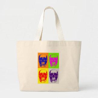 Pop Art Skull Large Tote Bag