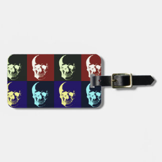 Pop Art Skull Tags For Luggage