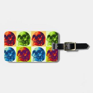 Pop Art Skull Bag Tag