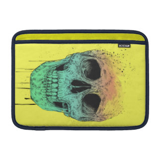 Pop art skull MacBook sleeve