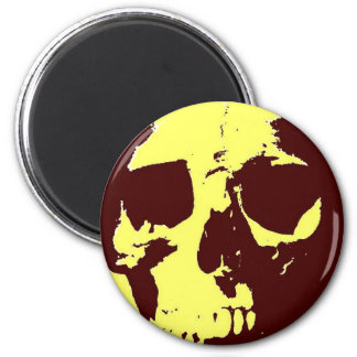 Pop Art Skull Magnet