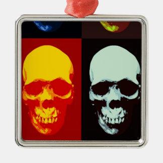 Pop Art Skull Metal Ornament