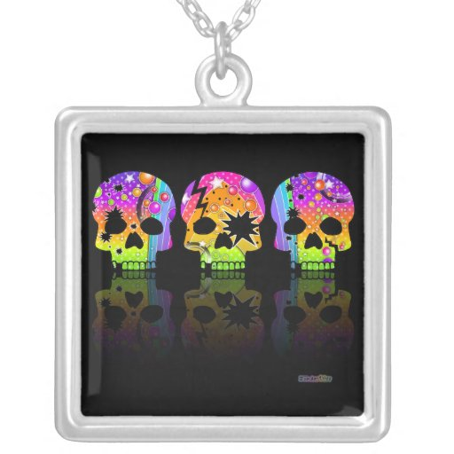 Pop Art Skull Necklace