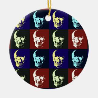Pop Art Skull Ornaments