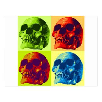 Pop Art Skull Postcard