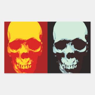 Pop Art Skull Rectangular Sticker