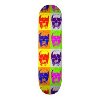 Pop Art Skull Skateboard