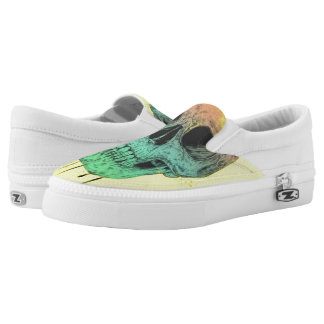 Pop art skull Slip-On sneakers