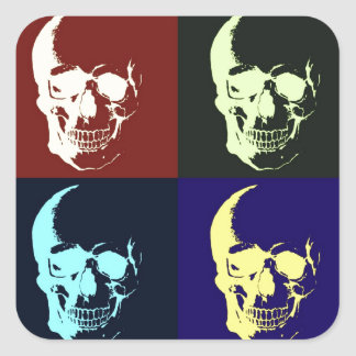 Pop Art Skull Square Sticker