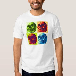 Pop Art Skull T Shirt