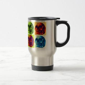 Pop Art Skull Travel Mug