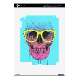 Pop art skull with glasses iPad 3 skins