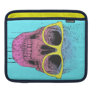Pop art skull with glasses sleeves for iPads