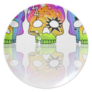 Pop Art SKULLS Designer Plate