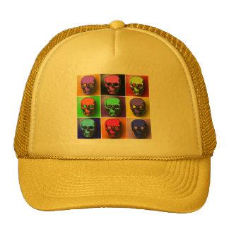 Pop Art Skulls Halloween Design Trucker Hat