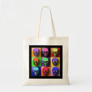 Pop Art Skulls Halloween Design Tote Bag